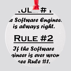 Rule Software Engineer Round Ornament